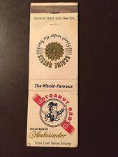 Los Angeles Ambassador Hotel/Cocoanut Grove Vintage Matchbook Cover