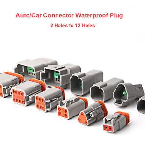 2-12 Way Plug Connector Kit DT06-2S C/W Pin & Wedglock DT04-2P Deutsch DT Series