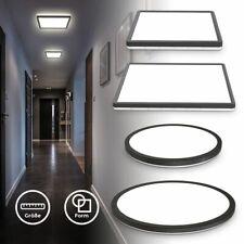 LED Deckenleuchte ultraflach Panel Deckenlampe indirektes Licht Flur schwarz