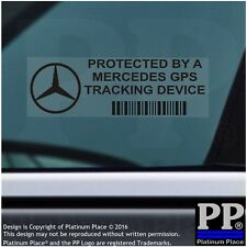 5 x Mercedes Benz GPS Tracking Device Security BLACK Stickers-Car Alarm Tracker
