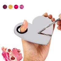 Stainless Steel Makeup Palette Foundation Cosmetic Mixing Palette Spatula Tool