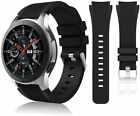 HSWAI Compatible with Samsung Galaxy Watch 46mm Bands/Gear S3 01#black