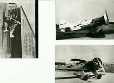 "SET OF 3: GEE BEE LOT #44 - 4"" X 6"" BLACK & WHITE AIRPLANE PRINTS"