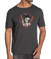 John Varvatos Star USA Men's Tophat Skeleton Peace Sign Graphic T-Shirt Coal