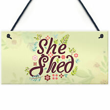 She Shed Garden Woman Cave Mum Sister Friendship Home Gift For Her Plaque