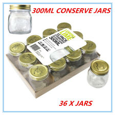 24 X 300ml Small Glass Jars BULK With Lid Mini Conserve Preserving Spice Jam Jar