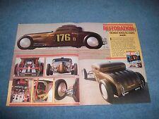 """1930 Ford Chrisman Bros. Bonneville Coupe Vintage Article """"Restoration"""""""