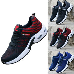 Men Sports Breathable Mesh Sneakers Cushioned Casual Lace-up Running Shoes