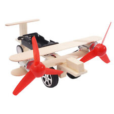 DIY Physical Science Experiment Toy Children Plane Wood Assemble Model Kit