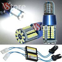 2 Lampade LED T10 57 SMD 3014 No Errore CDB BIANCO Canbus W5 + 2 RESISTENZE