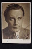 "Rare Signed Johannes Heesters - Vintage Photo Postcard 1930's-40""s German Actor"