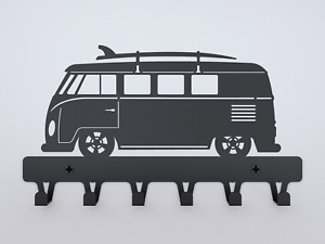 VW T1 with SURF gift key holder wall COAT Hanger van Vintage Hippie Woodstock