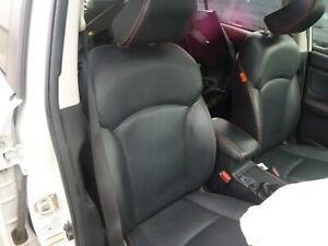 SUBARU XV FRONT SEAT RH FRONT, G4X, LEATHER, 01/12-04/17 12 13 14 15 16 17