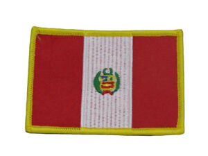 Peru Peruvian Country Flag Iron On Patch