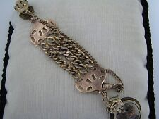 c048 Vintage Fob with Pocket Watch Chain on Waist clip