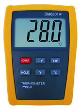 Scientific Digital Thermometer 1 Sensor Probe K-Type HVAC Tool Temperature 6801