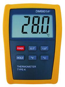 Scientific Digital Thermometer 1 Sensor Probe K-Type HVAC Tool Temperature 6801