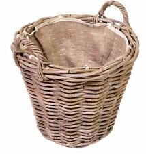 Rattan Round Decorative Baskets with Handle
