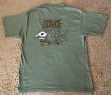 Newport Blue More Beer Less Fear Fishbone Men's Green T-Shirt Size XL