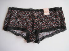 Candies All Over Lace Shorty Hipster Panty ZZ73U325Z Black Floral L 7 FREE S&H