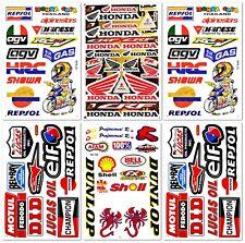 Motocross Motorcross Dirt Bike Dirtbike Racing D6722 Pack 6 Sticker Decal Sheet