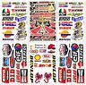 Motocross Motorcross Dirt Bike Dirtbike Racing D6722 Pack 6 Sticker Decal Sheet