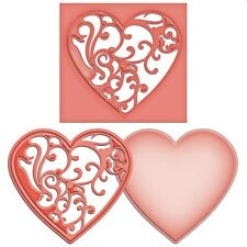 SPELLBINDERS SHAPEABILITIES CUTTING DIE D-LITES VINES OF PASSION HEART UNIVERSAL