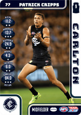 2018 AFL TEAMCOACH FULL SET OF COMMONS CARLTON BLUES 13 CARDS 23/03/2018