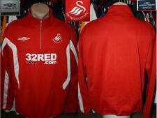SWANSEA AFC (The Swans) Umbro 1/4 Zip Top Sweatshirt Training Leisure 2009/2011