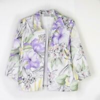Alfred Dunner Blazer 16P Floral Printed Open Womens Jacket Petite Plus Size