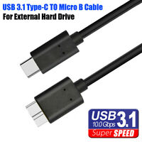 Hard Drive Laptop USB 3.1 Type-C to Micro 3.0 B Cord HDD Data Cable For MacBook