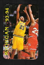 Michigan Wolverines--Juwan Howard--1993-94 Basketball Schedule--First of America