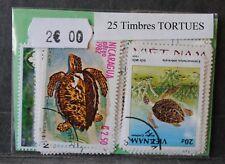 Animaux, Tortues, 25 timbres thématiques, tous différents