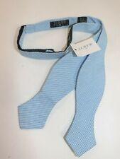 NWT J.CREW Men's Blue White 100% Cotton University Stripe Bow Tie OS