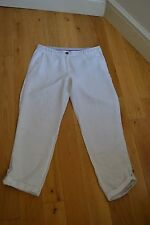 WOMEN LINEN WHITE TROUSER UK SIZE 12 USED IN GOOD CONDITION ! summer must have