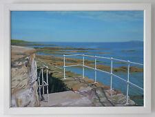 Freshly Painted Railings Seascape Fife coast Scotland UK Framed  oil on canvas