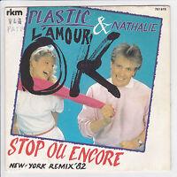 BERTRAND Plastic & Nathalie Vinyle 45 tours SP  L'AMOUR OK - RKM 761.619 Stereo