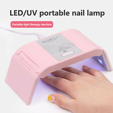 24W UV LED Nail Lamp Gel Nail Polish Dryer, Rechargeable & Portable~Pink