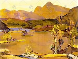 LANDSCAPE LAKE DISTRICT VALLEY SCENIC CUMBRIA ENGLAND UK ART POSTER PRINT CC6597