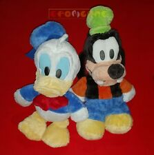 Peluche Plush - PAPERINO Donald Duck & PIPPO Goofy - Big Head 40 cm. - USATI E5