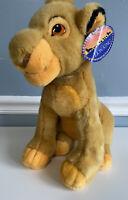 Vintage 90s Lion King Young Simba Plush Stuffed Animal Disneyland NWT Disney Toy