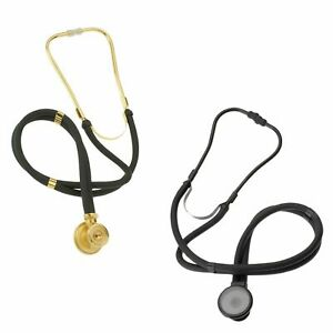 Gold/Black Premium Sprague Rappaport Dual Head Stethoscope-Adult, Child, Infant