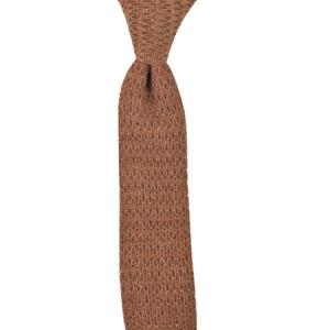 $150 NWT BOGLIOLI Italy Mocha Brown Knit Lightweight Wool Skinny Neck Tie