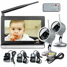 "Baby Monitor 7"" 2.4Ghz Wireless IR Night Version Audio and Video 2pcs Camera"