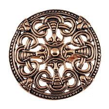 2 x Wikinger Schürze Fibel Bronze Scheibenfibel Borrestil  Mittelalter mit Öse