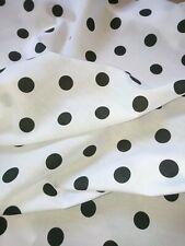 White Black Polka Dot Spot poly Cotton Print, dress-making Crafts Fabric