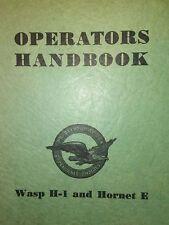 Pratt Whitney Wasp H1 & Hornet E Operators Manual
