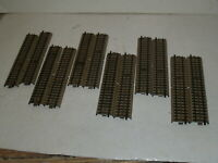 Lot 12 of HO Scale 3600D MARKLIN Straight Track Brown Tabs-Wired for power