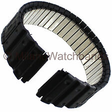 18-22mm Speidel Black Sport Metal Mens Watchband Fits Casio G Shock Long 1693/03