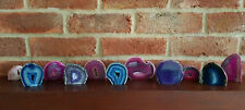 Geode Choose your Pink Blue or Purple - Polished Brazilian Agate Crystal Geodes